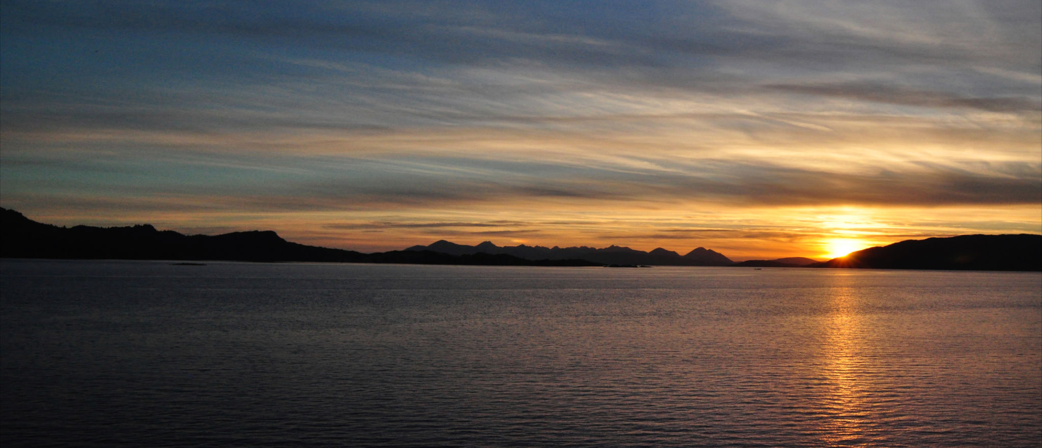 Sunset on the Cullins of Skye