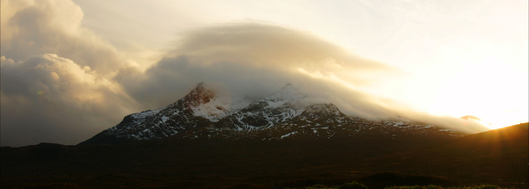 A dusting of snow on the Torridon Hills