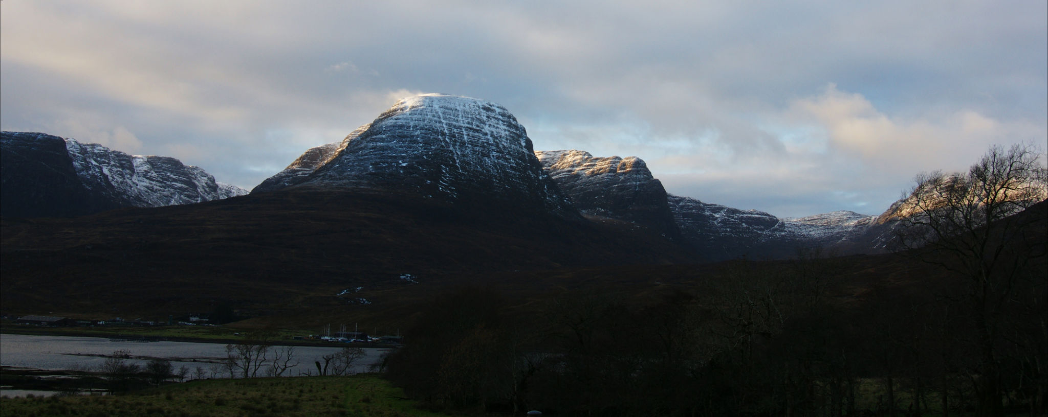 A dusting of snow on the Bealach