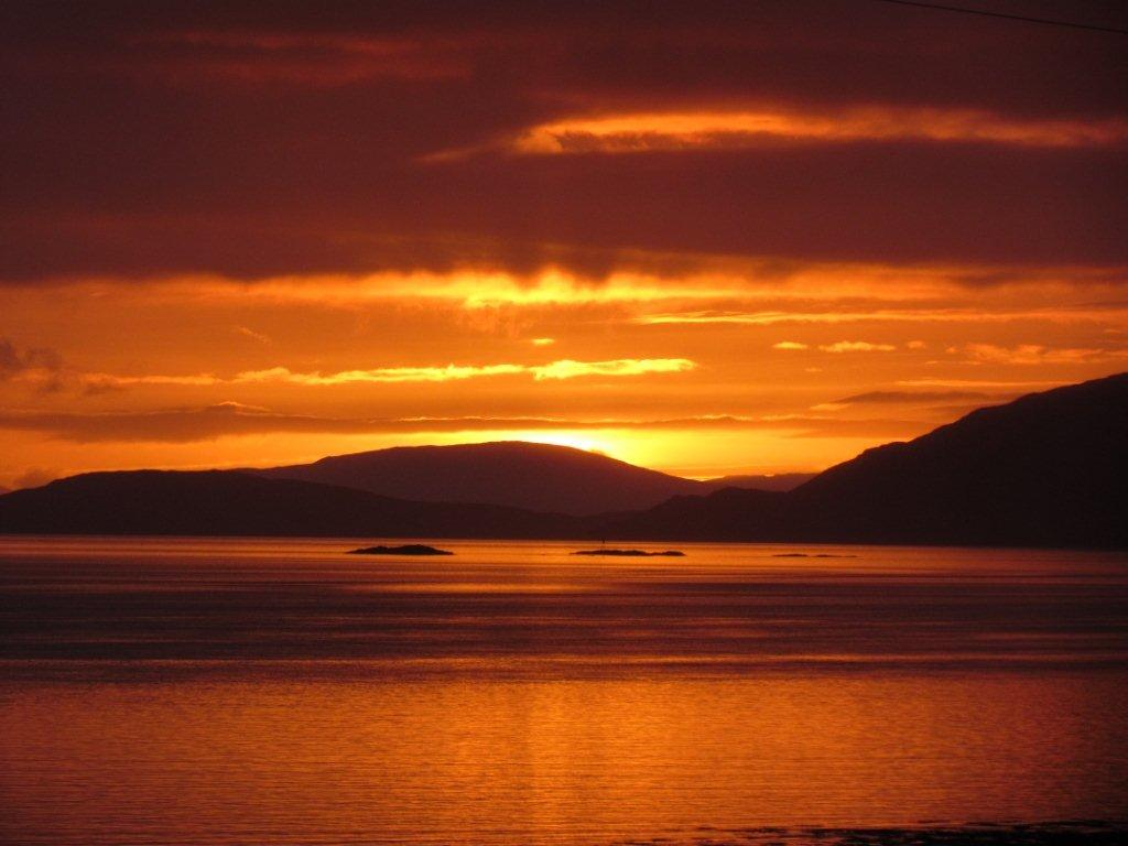 Sunset over Applecross hills